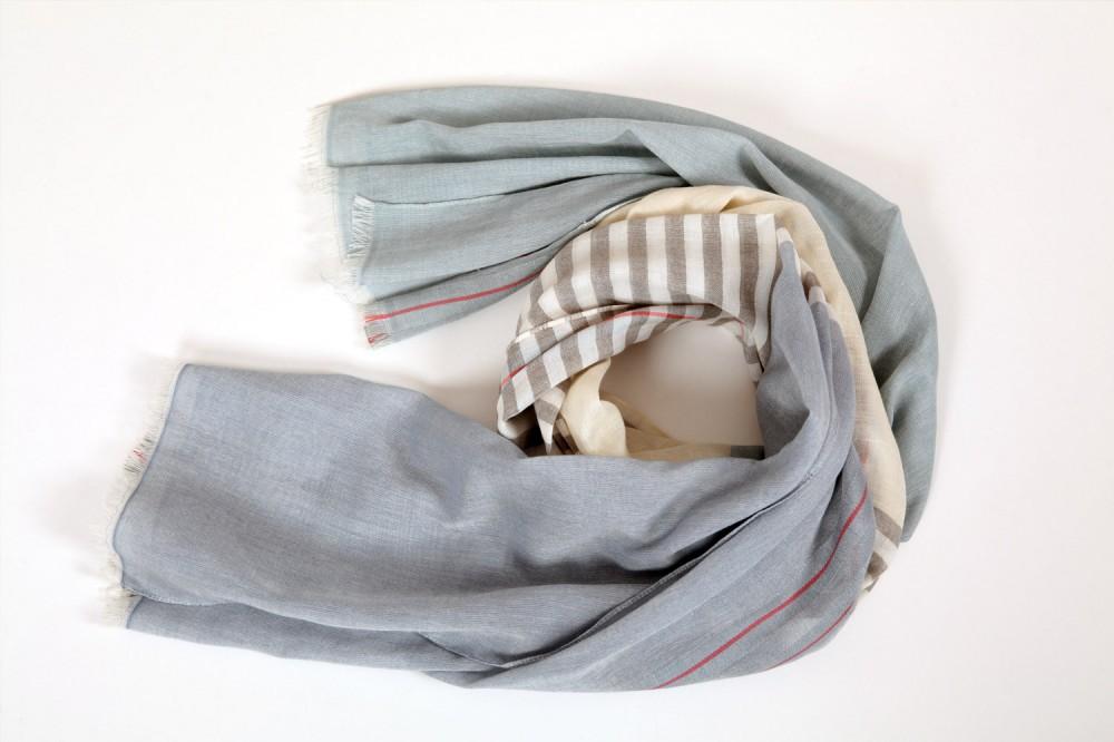 Colour Block Stripe<br/>Cotton / Silk