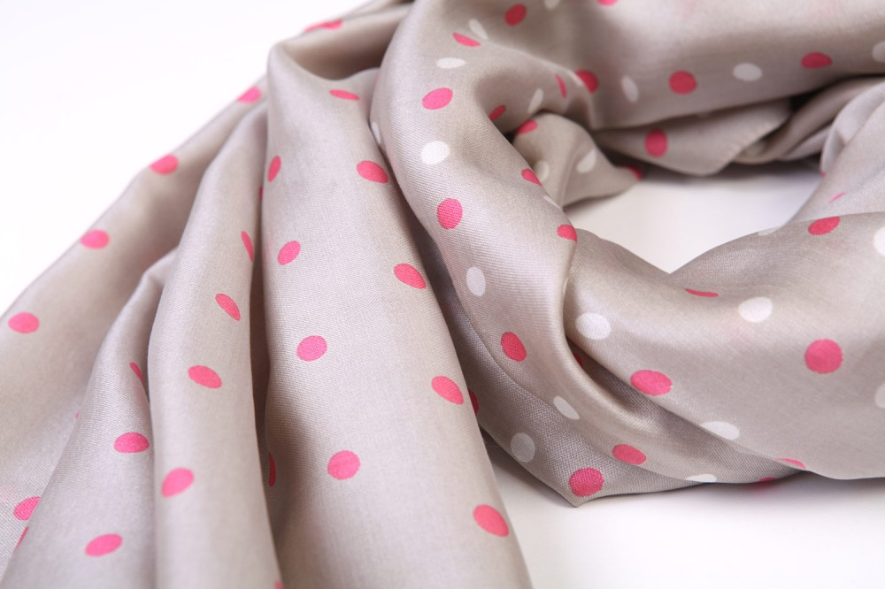 Half and Half Polka<br/>100% Silk