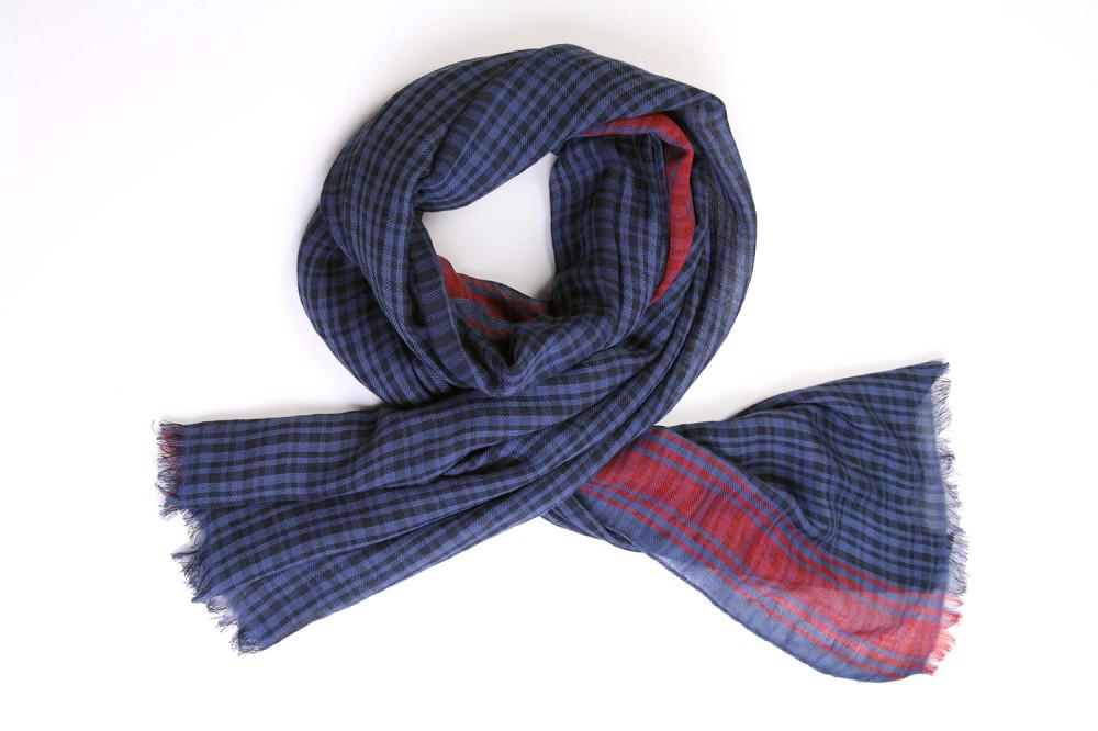 Bordered Check<br/>Cotton / Linen