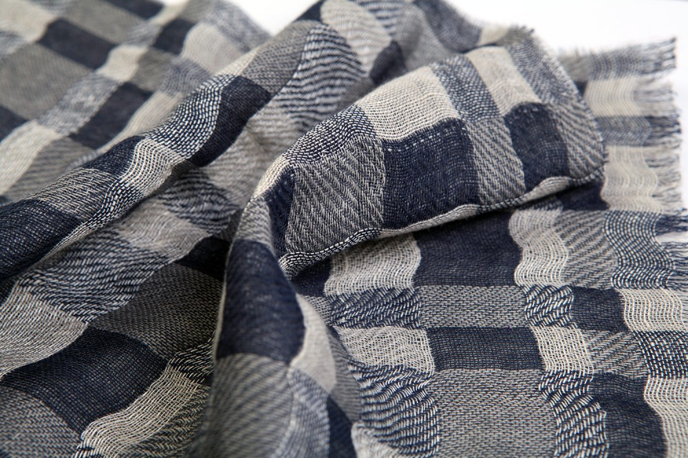 Double Cloth Checkerboard<br/>Linen / Cotton